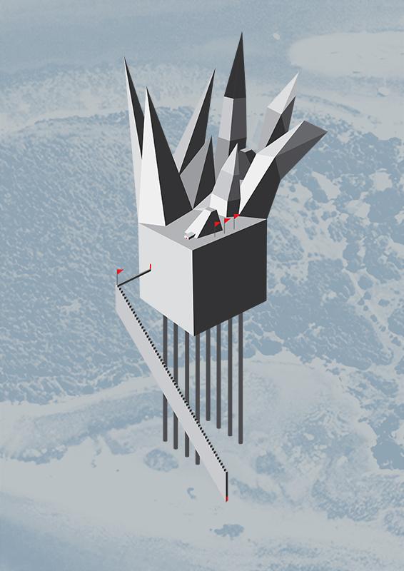 ilustraçao montanhas
